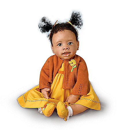 Musical Religious African-American Baby Doll: Imani