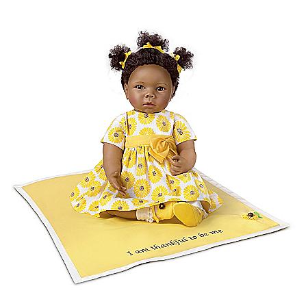 Peyton: 20″ Lifelike African-American Baby Doll