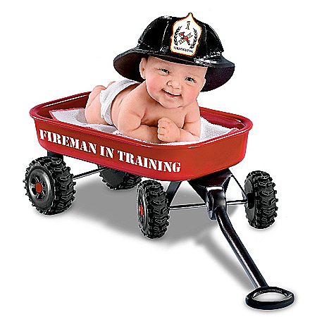 Cheryl Hill Fireman In Training Realistic Baby Doll