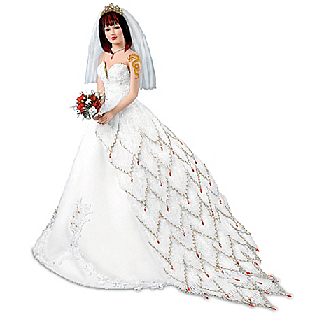 Liz Greenwood Fire Bride Doll: Premiere Of The Fire And Ice Dragon Tattoo Bride Collection