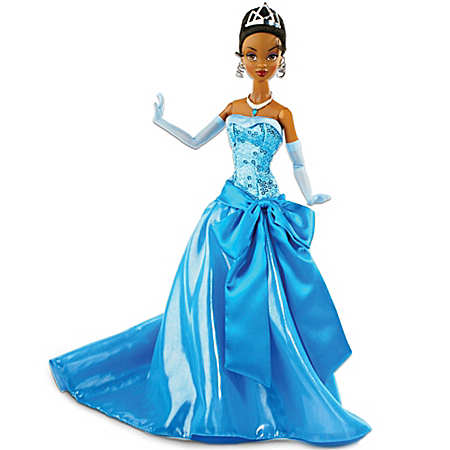 "Disney ""Princess Tiana In Blue Ballgown"" Articulated Fashion Doll"