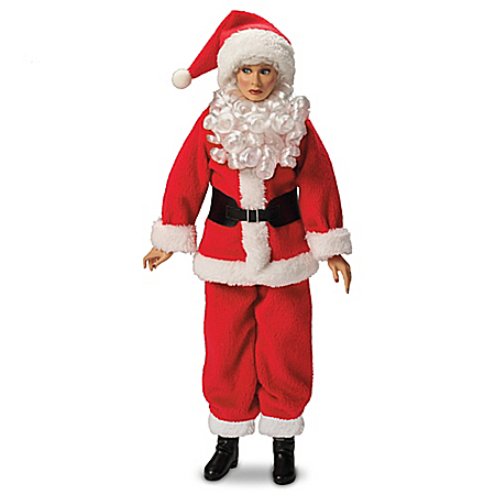 I LOVE LUCY Holiday Fashion Talking Portrait Doll In Red Santa Claus Suit