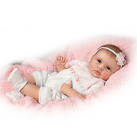"So Truly Real ""Olivia's Gentle Touch"" Lifelike Baby Girl Doll By Linda Murray"