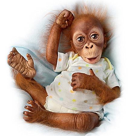 "Baby Babu: 16"" Collectible Orangutan Baby Doll"