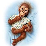 Lifelike Baby Orangutan Doll - Baby Pongo