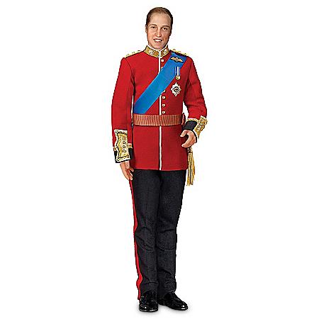 Prince William Royal Bridegroom Portrait Porcelain Doll