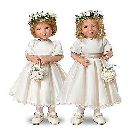 Dolls: Royal Flower Girls Child Doll Set