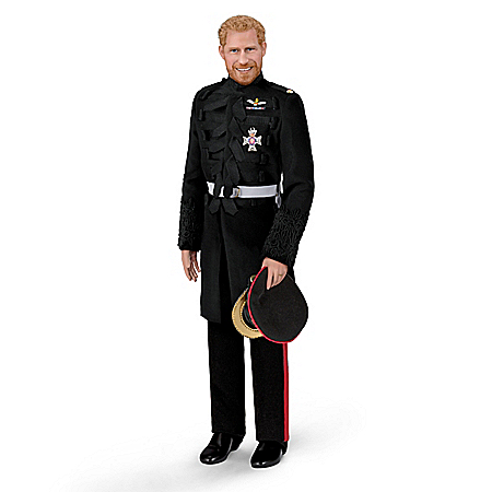 Photo of Prince Harry, Royal Romance Fine-Porcelain Groom Doll by The Bradford Exchange Online