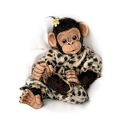 Little Ubu Lifelike Baby Chimpanzee Monkey Doll