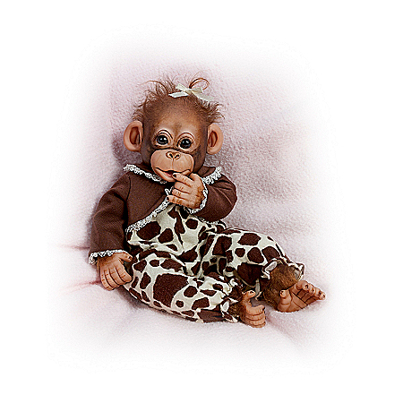 Monkey Doll: Little Enu Baby Monkey Doll