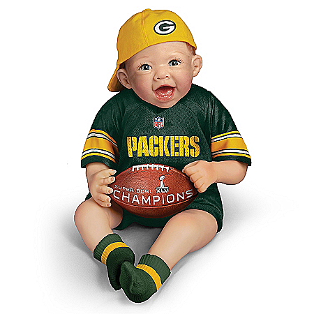NFL-Licensed Green Bay Packers Super Bowl Champions Commemorative Collectible Baby Doll