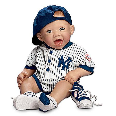 New York Yankees #1 Fan: 22-Inch Realistic Lifelike Baby Doll