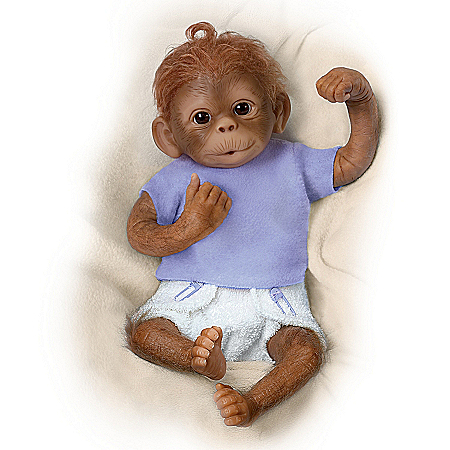 Poseable Monkey Baby Doll: Jo Jo