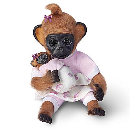 Gertie Plays Mommy Lifelike Monkey Doll