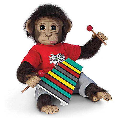 Wally's Concert Recital Lifelike Monkey Doll