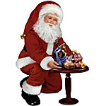 Thomas Kinkade Santa Doll And Nativity Set - The Reason For The Season