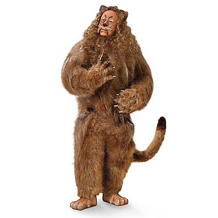 The Wizard Of Oz Cowardly Lion Singing Portrait Doll