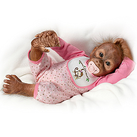 Leila's Loving Touch Baby Monkey Doll