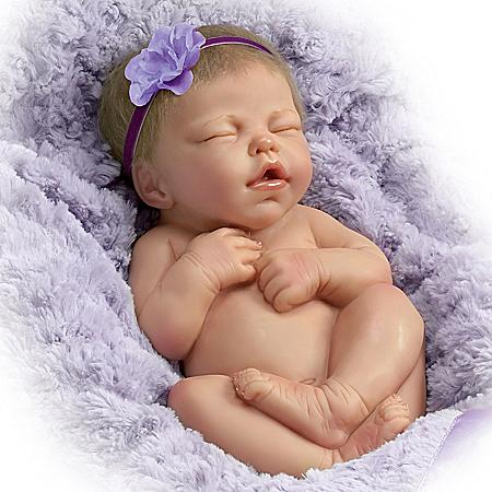 Marita Winters Cuddle Me Lifelike Infant Baby Girl Doll