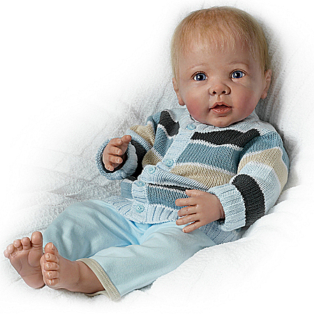Touch-Activated Cooing and Moving Baby Doll By Linda Murray: Noah