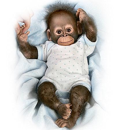 Realistic Baby Monkey Doll: Baby Zachary