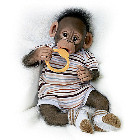 Doll: Baby Zeke Monkey Doll 301893003