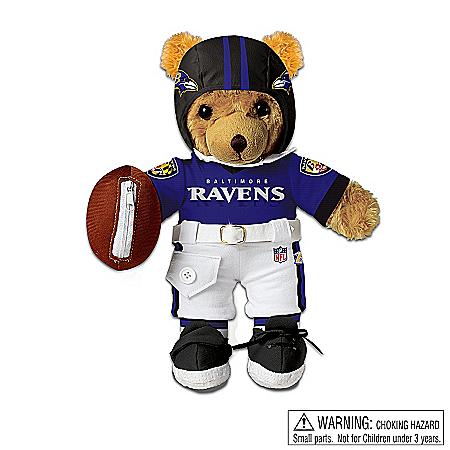 Collectible Teddy Bears Teddy Bear: Baltimore Ravens Coaching Teddy Bear
