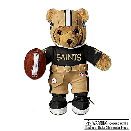 Collectible Teddy Bears Teddy Bear: New Orleans Saints Coaching Teddy Bear