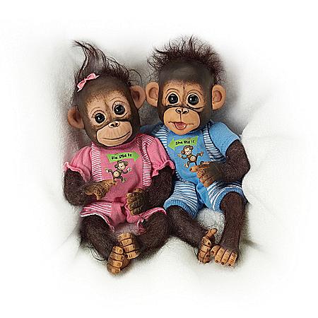 Dolls: He Did It, She Did It Monkey Doll Set