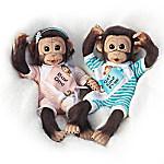 Buy One, Get One Free Lifelike Monkey Doll Set