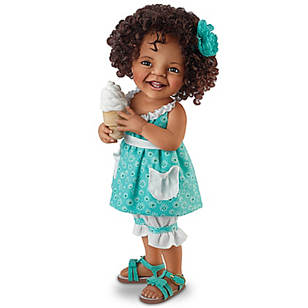 Jane Bradbury Giggles And Curls Realistic Collectible Child Doll