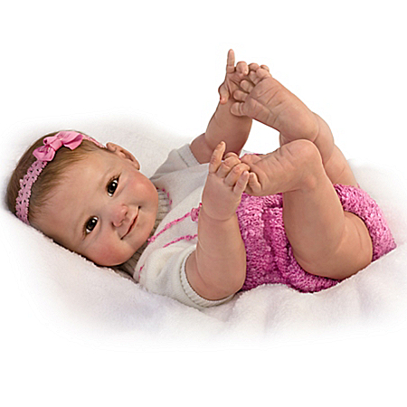 Sherry Miller 10 Little Fingers, 10 Little Toes Poseable Baby Girl Doll