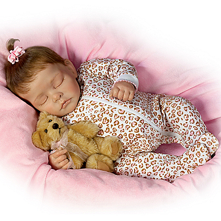 Collectible Teddy Bears Sweet Dreams Ellie Lifelike Doll With Plush Teddy-Bear