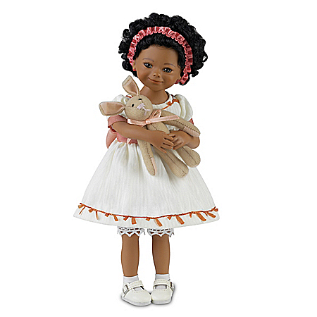 Mayra Garza Shaniqua And Her Bunny Lifelike Child Doll