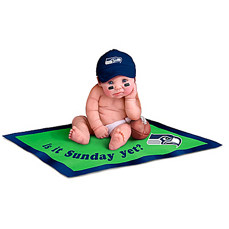 Seattle Seahawks Miniature Baby Doll