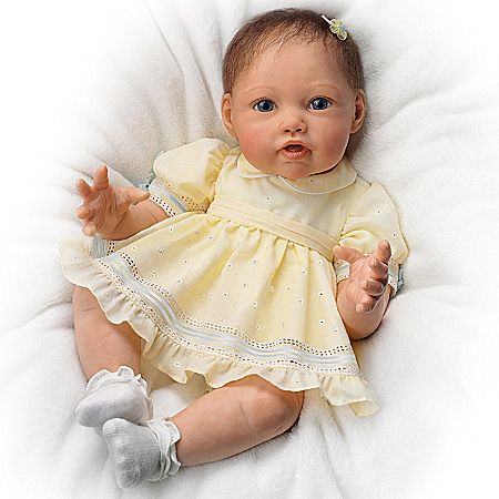 Jannie DeLange Pick Me Up Natalie So Truly Real Baby Girl Doll