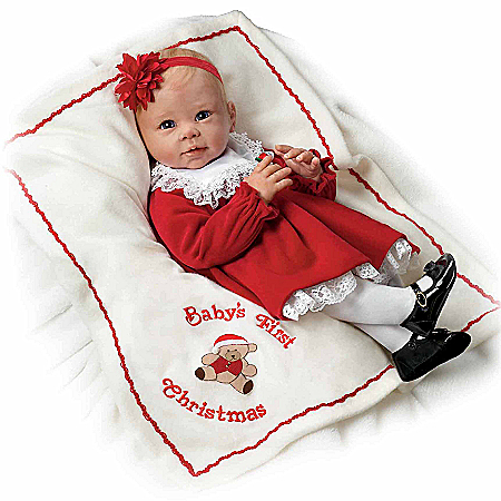 Doll: Baby's First Christmas So Truly Real Signature Edition Baby Doll