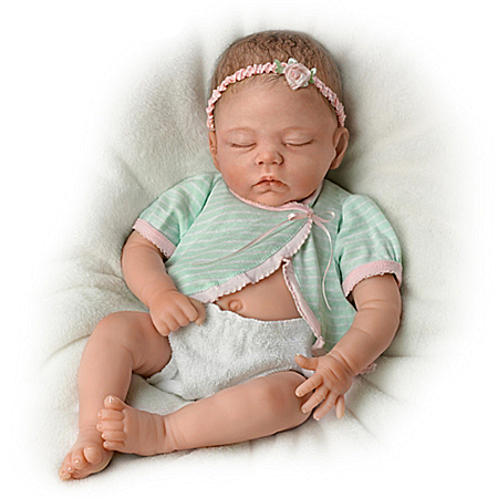 Adorable Morgan So Truly Real Lifelike Newborn Baby Doll By Linda Murray