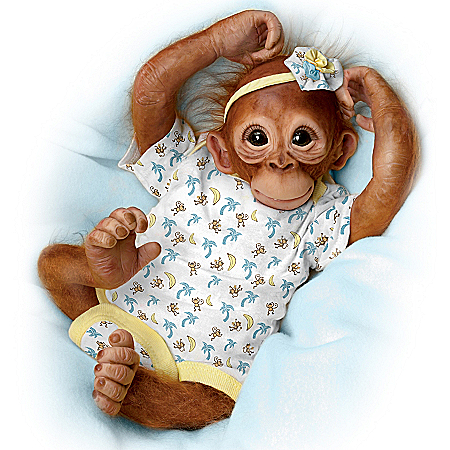 Monkey Doll: Precious Zara Breathing Heartbeat Monkey Doll