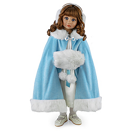Victoria 25-Inches Poseable Child Doll In Winter Dress By Angela Sutter
