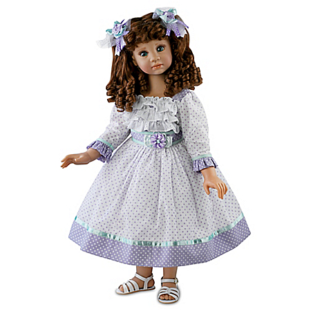 Faith Child Doll With Lace Trimmed Dress And Ribbons
