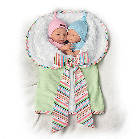 Baby Doll Set: Madison And Mason Twins Baby Doll Set
