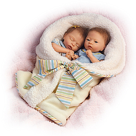 Donna Lee Taylor And Tyler Twin Newborn Lifelike Baby Doll Set