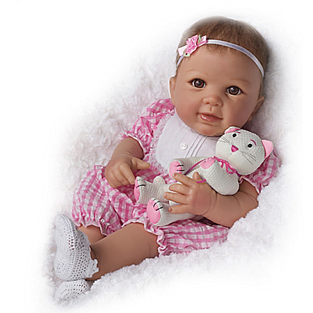 Kitten Kisses So Truly Real Lifelike Baby Girl Doll By Linda Murray 302114002