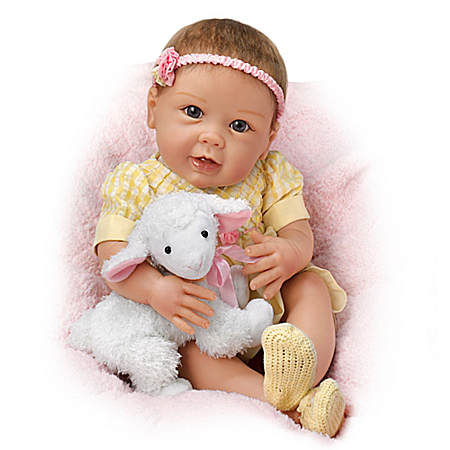Linda Murray Littlest Lamb Baby Handcrafted Doll