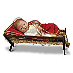 Doll - Jesus, The Savior Is Born Baby Jesus With Wooden Manger Nativity Doll