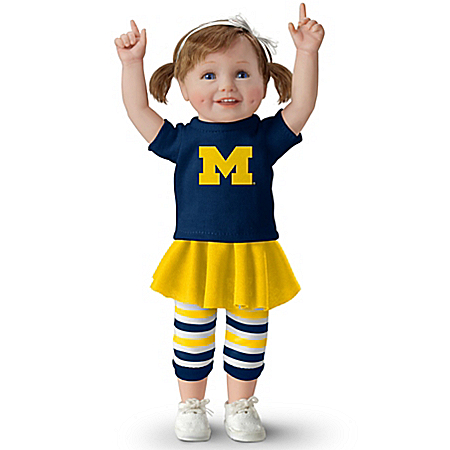 Michigan Girls Have More Fun! Michigan Wolverines Collectible Child Doll
