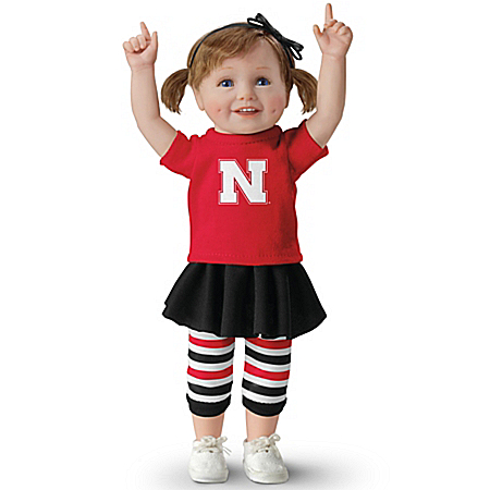Husker Girls Have More Fun! Nebraska Huskers Collectible Child Doll