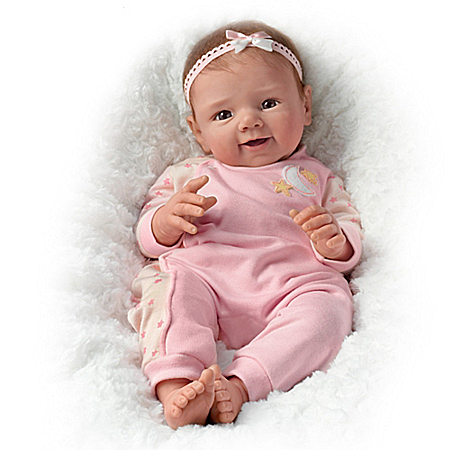 Sherry Rawn Star Light, Star Bright Lifelike Weighted Baby Girl Doll