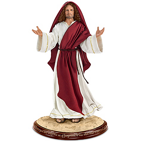 Jesus Footprints In The Sand figurine